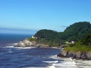 Heceta Head Lighthouse from HWY 101