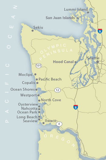 Washington Coast Map Of Our Vacation Rental Locations